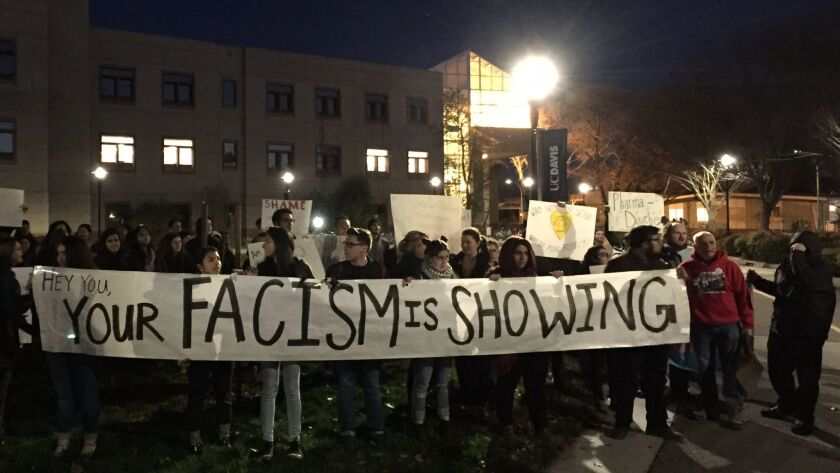 On Friday, Breitbart provocateur Milo Yiannopoulos's appearance at UC Davis was canceled in the face of loud protests. Milo, as he is known, was permanently banned from Twitter after spearheading racist attacks against actress Leslie Jones.