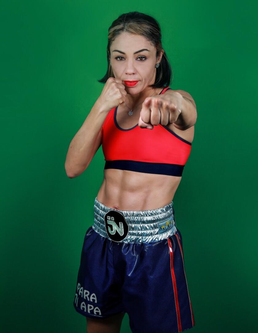 Fotografía sin fecha, cortesía de la boxeadora mexicana Jackie Nava