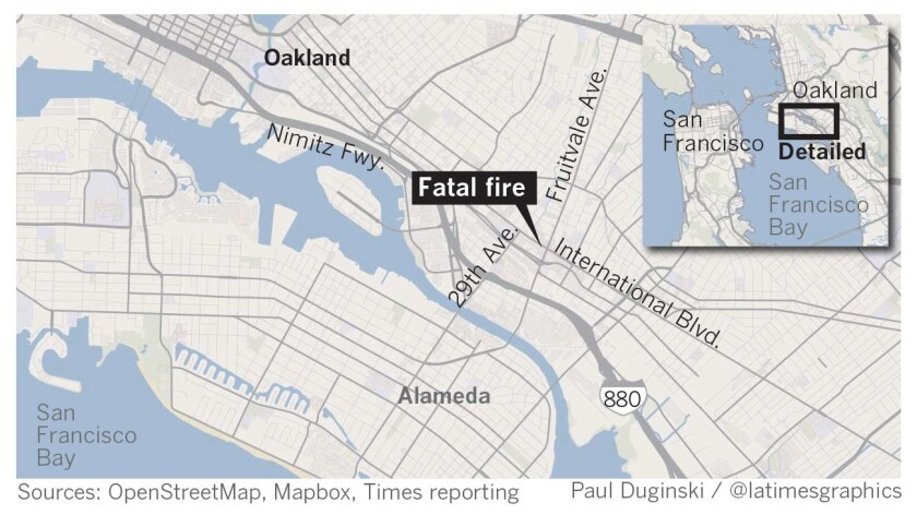 Death toll in Oakland fire climbs to 33 as families, friends fear