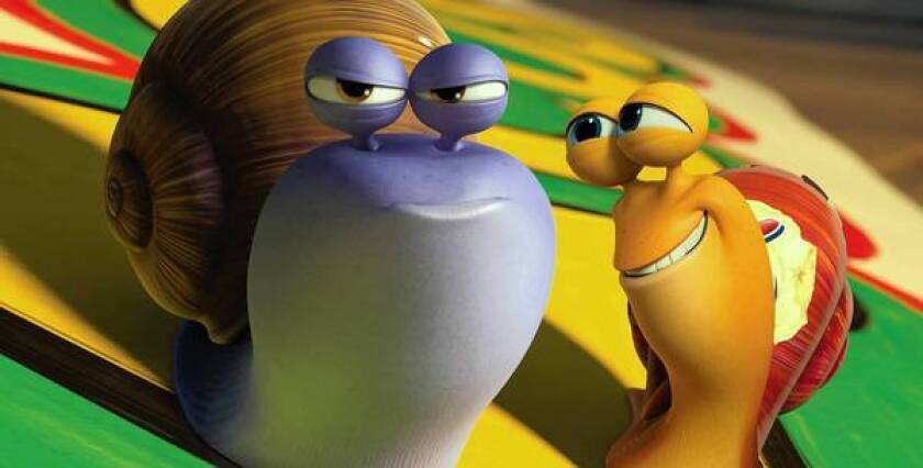 """DreamWorks Animation, one of the leaders in the animation film industry, had an unexpected misfire this summer with """"Turbo."""" The film made $21 million in its opening weekend, less than half what the Glendale studio pulled in for the opening weekend of its prior movie, """"The Croods."""" Above, characters from """"Turbo."""""""