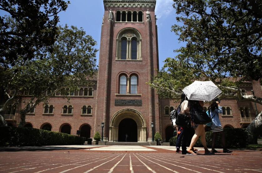 USC is one of the California campuses under investigation. The others are Occidental College, UC Berkeley and the Butte-Glenn Community College District.