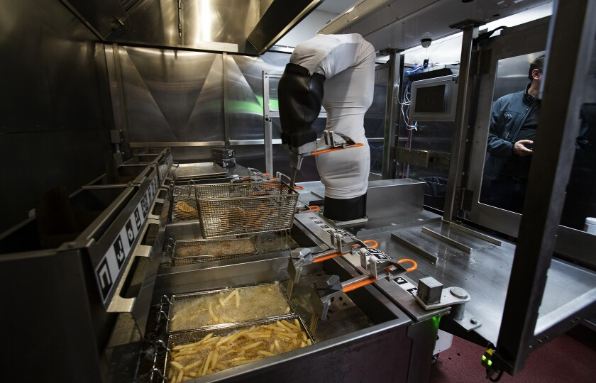 Making French fries sucks. This robot does it for $3 an hour with no breaks