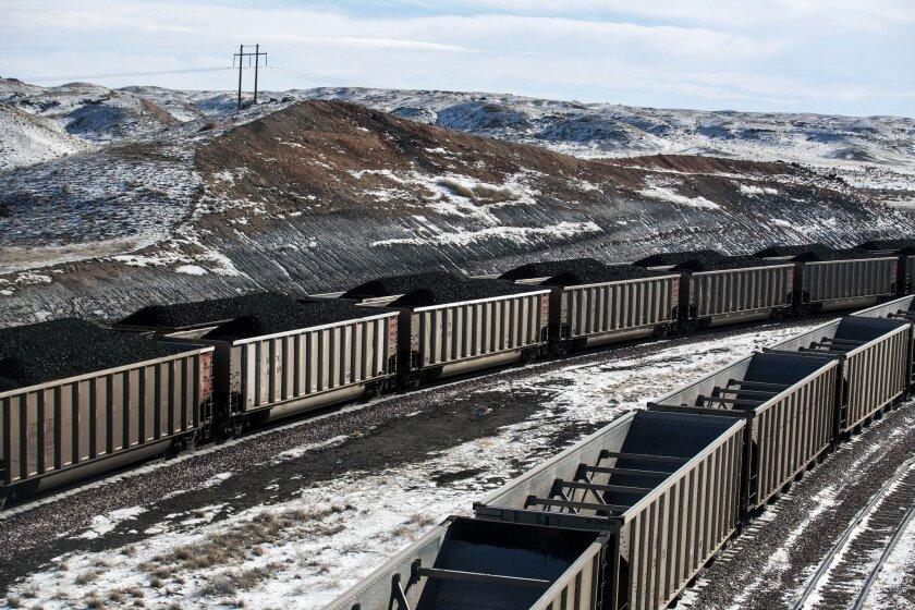 Wyoming coal train