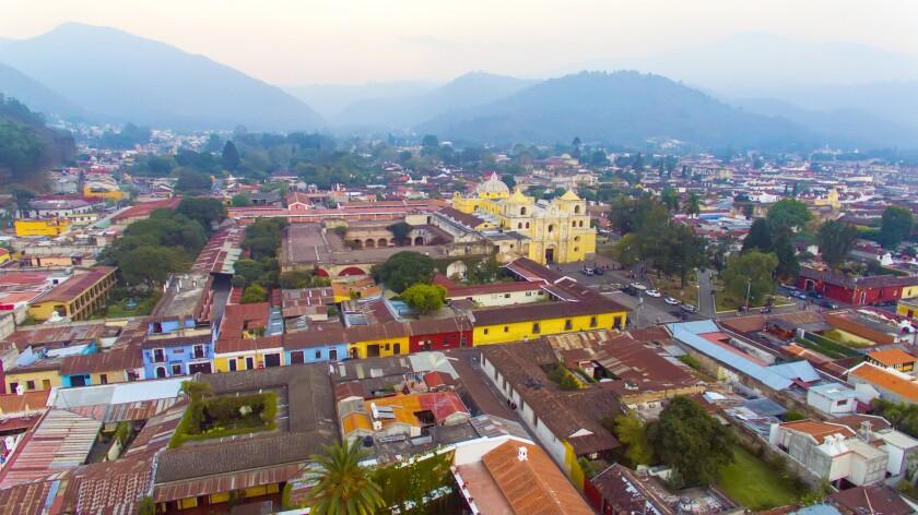 Landscape at City of Antigua - Guatemala