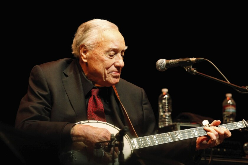 Earl Scruggs performing at UCLA's Royce Hall in 2011.
