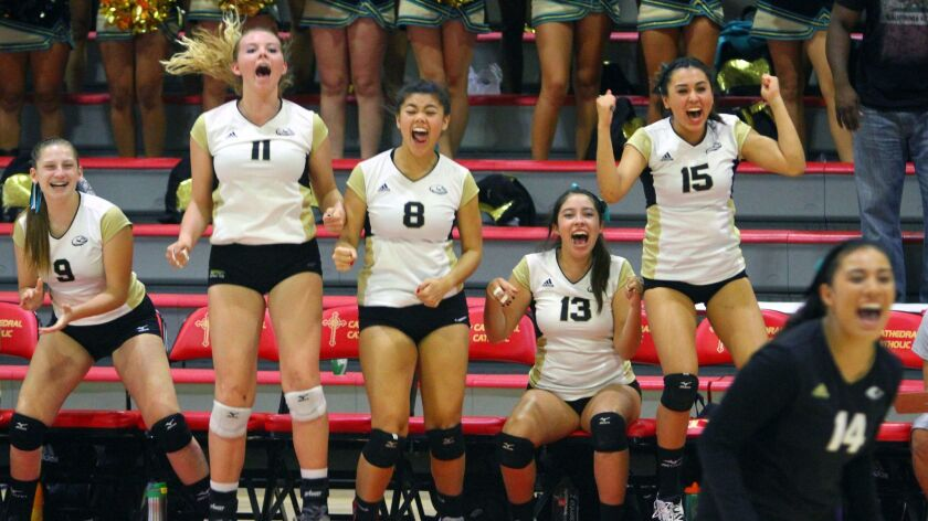 Olympian cheers its Division II title last year, a feat the Eagles hope to repeat this season.