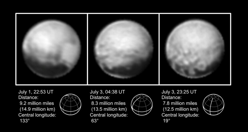 The latest images of Pluto were taken by NASA's New Horizons spacecraft just days before it experienced a brief technological glitch.