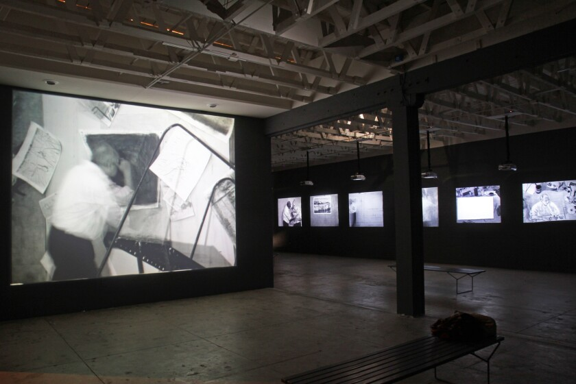 Over the next three years, the Underground Museum, an alternative art space in L.A., will showcase works from MOCA's collection chosen by painter Noah Davis. The first exhibition is an installation of video by South African artist William Kentridge.