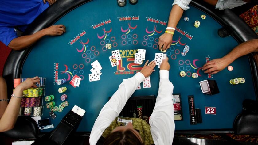 A hand of blackjack.