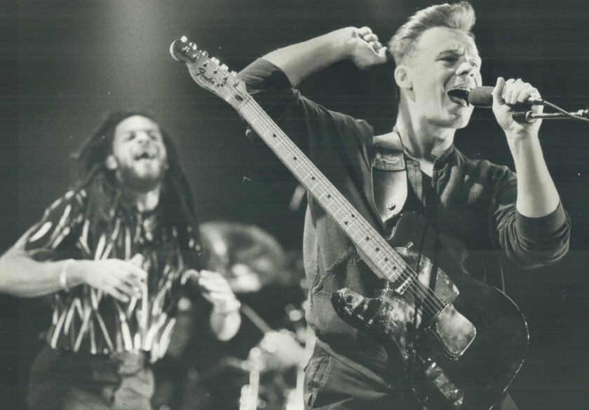 Ali Campbell, seen here performing with UB40 in 1985.