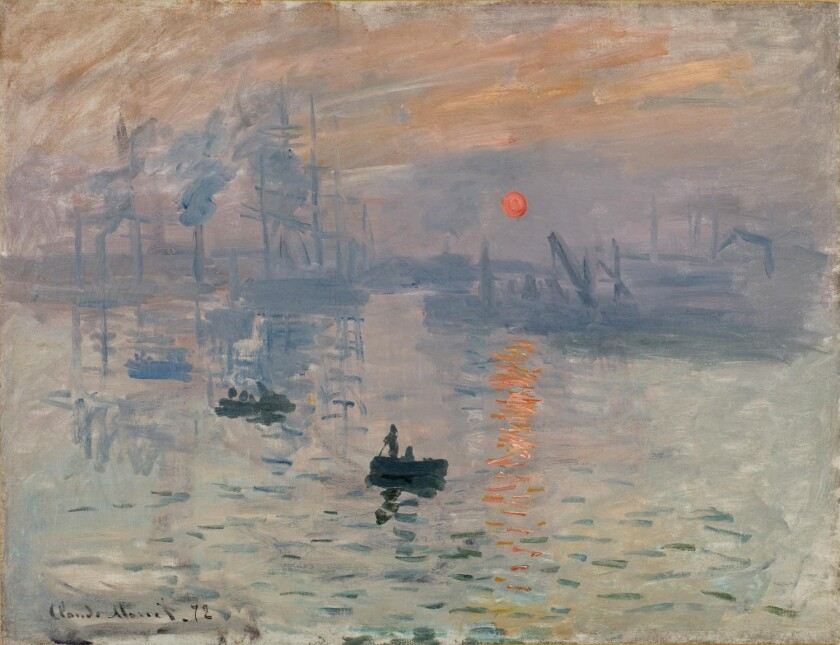 Physicist Donald Olson of Texas State University used astronomy, tide tables, weather reports, maps and historical photos to calculate the precise time when Claude Monet depicted this sunrise over the harbor of Le Havre, France.