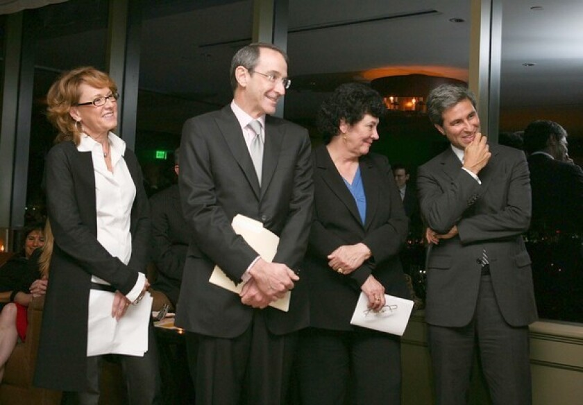 CULTURAL LEADERS: Ann Philbin, director of the Hammer Museum, from left; Mark Siegel, chairman of the Getty Board of Trustees; Deborah Marrow, director of the Getty Foundation; and Michael Govan, director of the Los Angeles County Museum of Art, are all forces in the Pacific Standard Time effort.