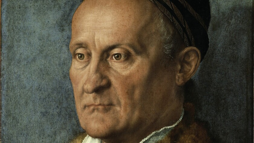 "Albrecht Durer, ""Portrait of Jakob Muffel (detail),"" 1526, oil on panel transferred to canvas"