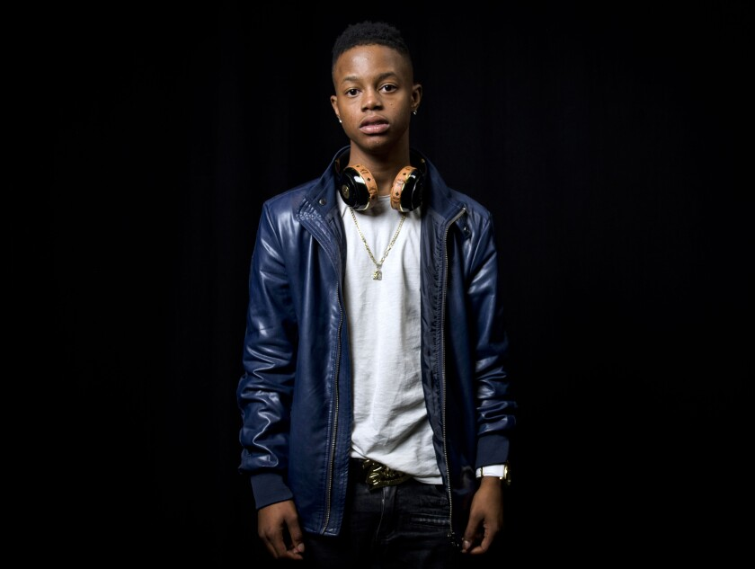 """FILE - In this July 21, 2015, file photo, rapper Silento poses for a portrait in New York. Silento, known for """"Watch Me (Whip/Nae Nae)"""" and whose legal name is Richard Lamar Hawk, was charged Friday, Oct. 23, 2020 with driving 143 mph on an Atlanta interstate. The rapper faces several charges, including reckless driving and speeding. (Photo by Drew Gurian/Invision/AP, File)"""
