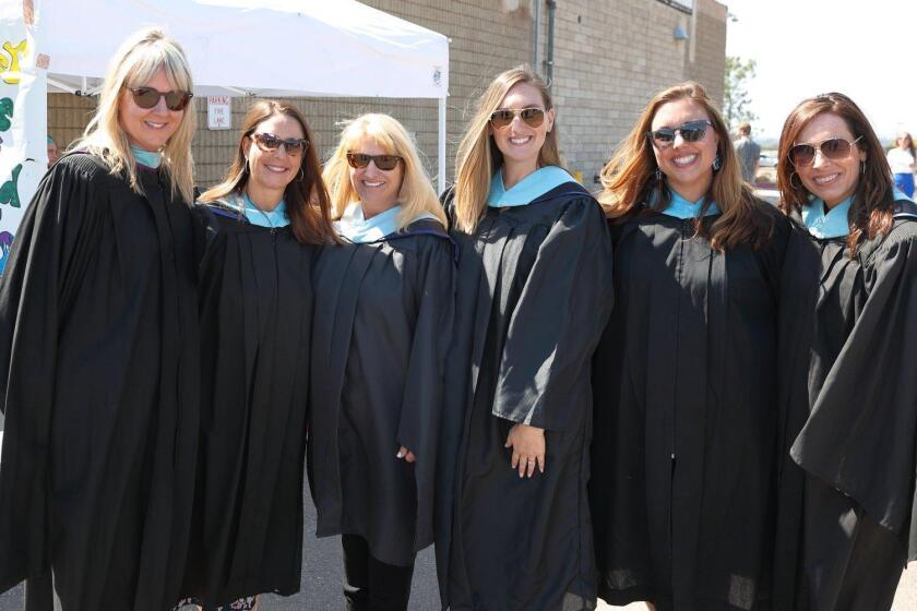 Counselors Jennifer Magruder, Sally Gervasini, Toni Zurcher, Natalie Seward, Chanelle Lary, Julianne Velasco