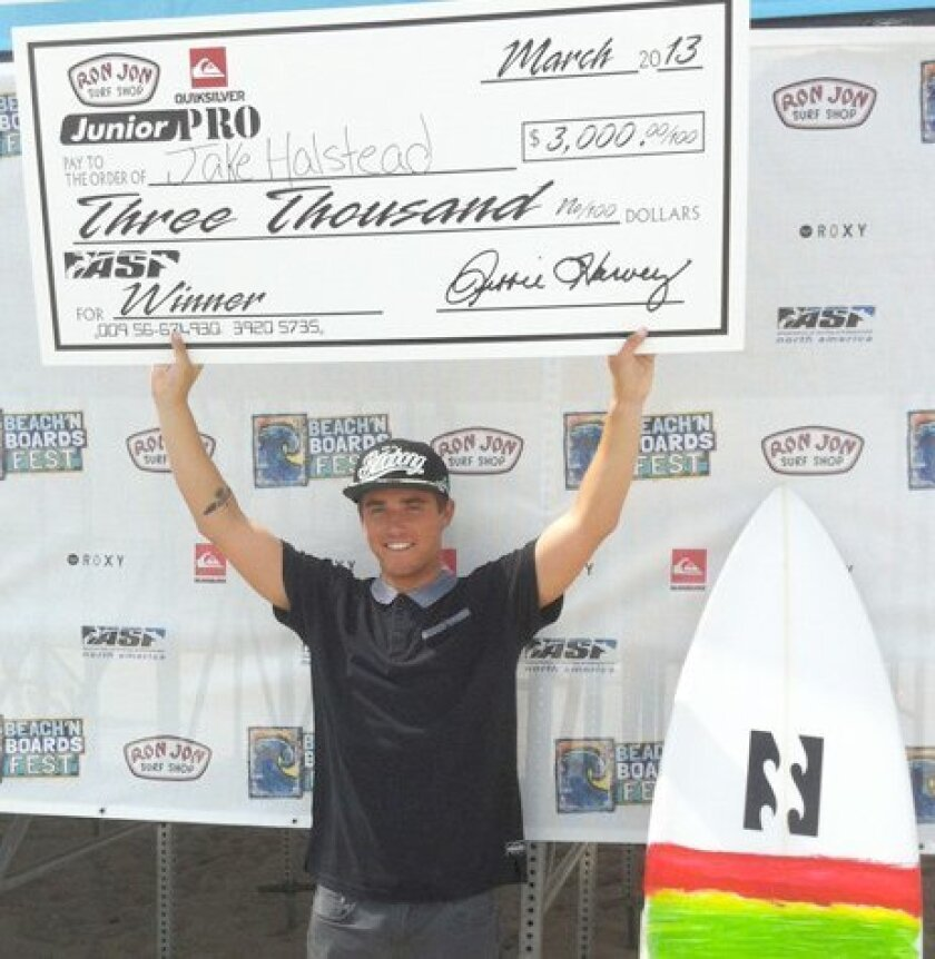 Jack Halstead is making a career out of surfing and collecting checks with many of the victories.
