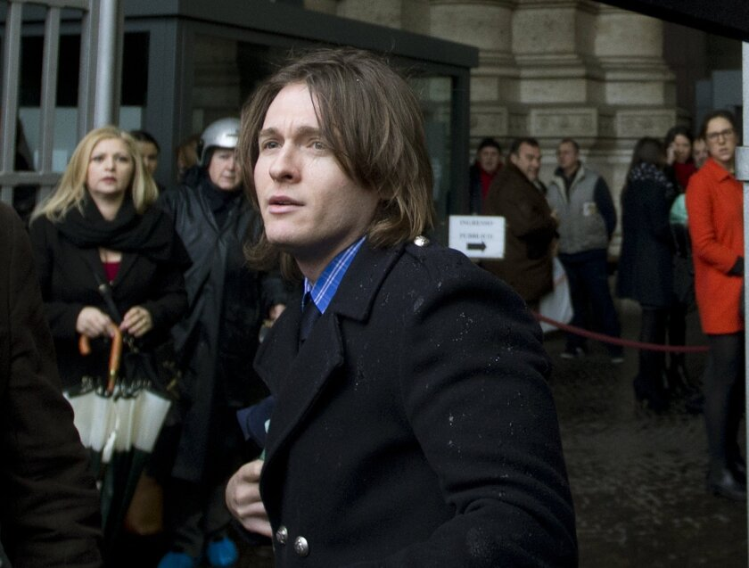 Amanda Knox's Italian ex-boyfriend Raffaele Sollecito arrives at Italy's highest court building, in Rome on March 25.
