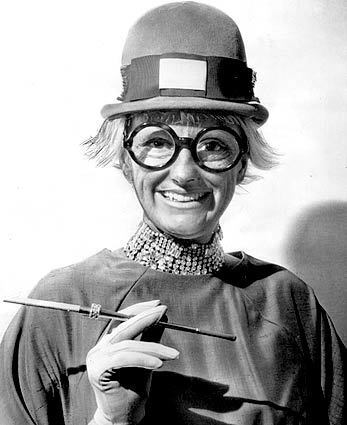 Phyllis Diller, dressed as a Keystone Cop, in 1963. Diller was an Alameda, Calif., mother of five when she made her nightclub debut at the Purple Onion in San Francisco in 1955 — at age 37.