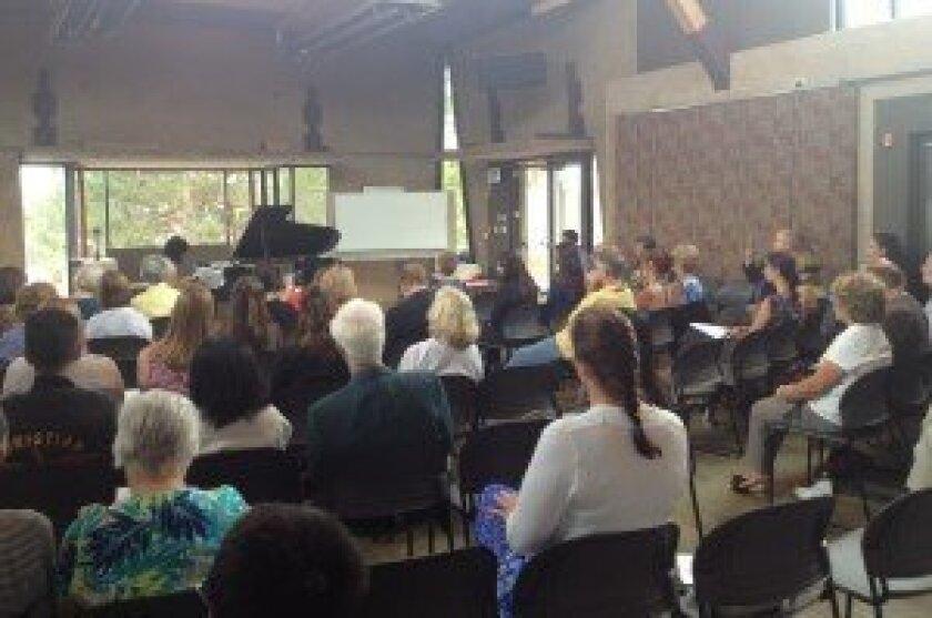 Recital at Founders' Hall in Solana Beach. Courtesy photos