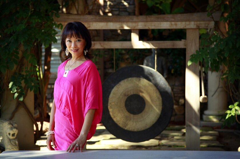 June Shillman, who helped orchestrate the San Diego Symphony's trip to China, is pictured at her home in Rancho Santa Fe. K.C. Alfred • U-T