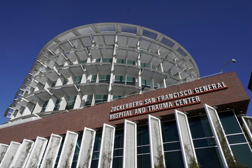 Exterior of Zuckerberg San Francisco General Hospital and Trauma Center in San Francisco