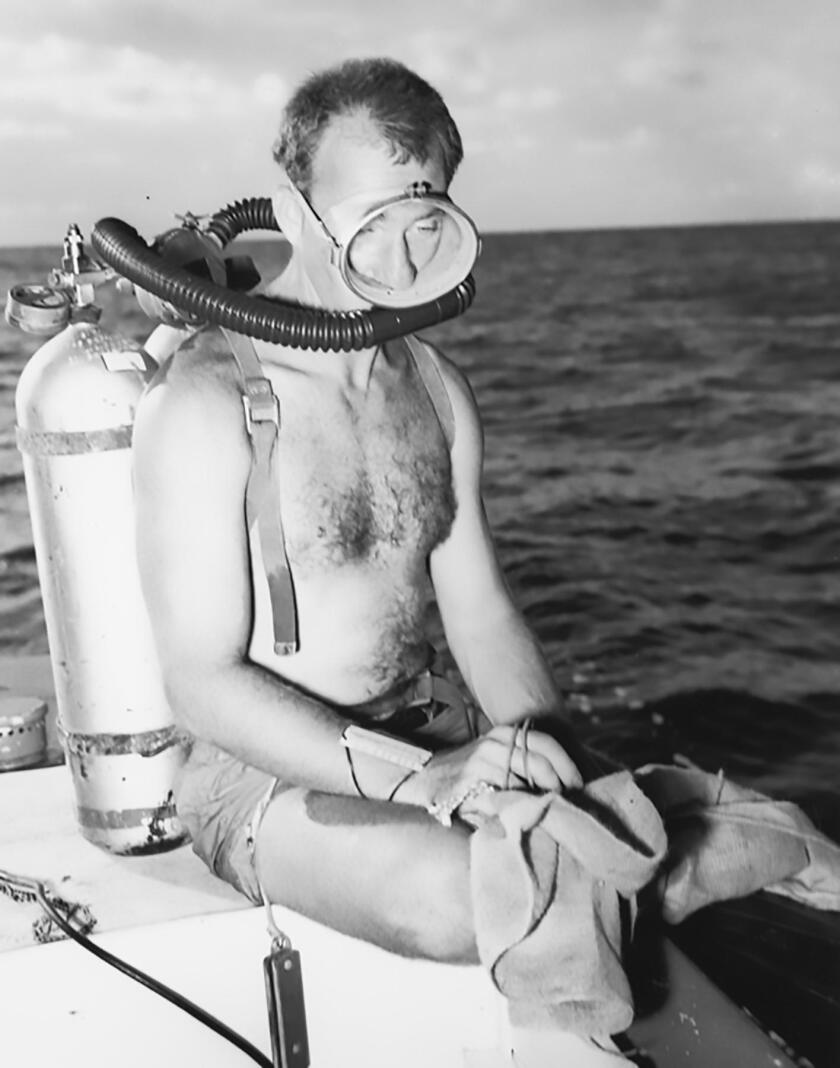 Walter Munk at work in the South Pacific, Capricorn Expedition. (1952)