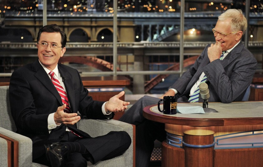 """CBS announced Thursday that Stephen Colbert will take over as host of the """"Late Show"""" when David Letterman retires in 2015."""