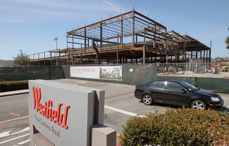 Rebuilding of Westfield Carlsbad mall