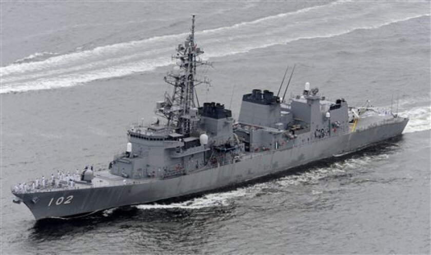 Japanese navy ships leave for anti-piracy mission - The San