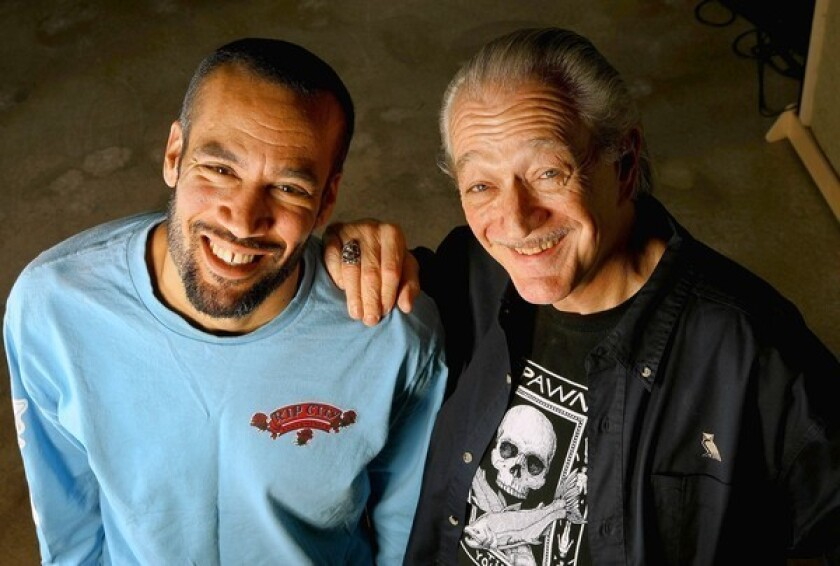 """Singer- songwriter Ben Harper, left, and harmonica master Charlie Musselwhite have collaborated on the new album, """"Get Up."""""""