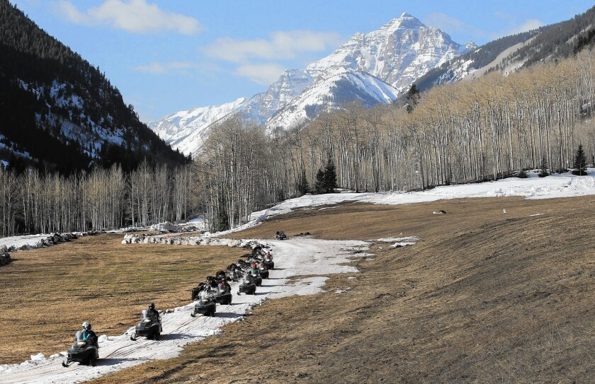 Aspen, at nearly 8,000 feet elevation, now averages 23 fewer days below freezing each year than it did before 1980, making snowfall more unreliable.