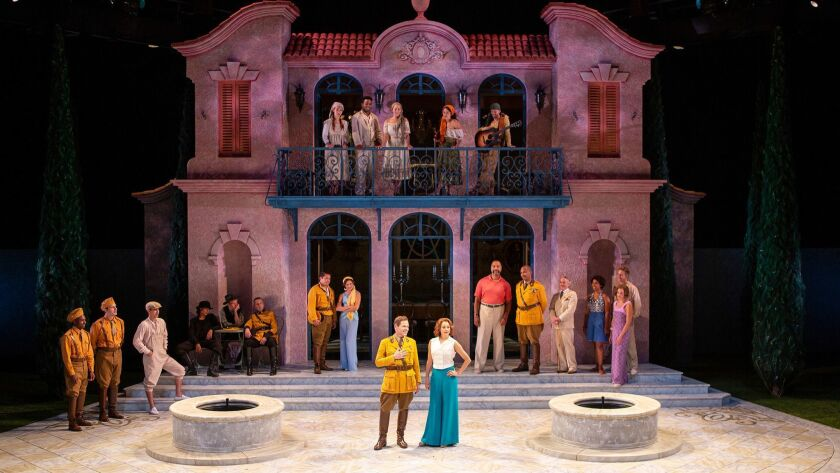 The company of Much Ado About Nothing, by William Shakespeare, directed by Kathleen Marshall, runs A