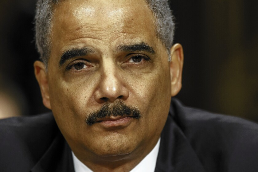 """""""I am focusing on issues — really focusing on issues — in these last few weeks that have been near and dear to me for as long as I've been a lawyer,"""" Atty. Gen. Eric H. Holder Jr. said in a recent interview."""