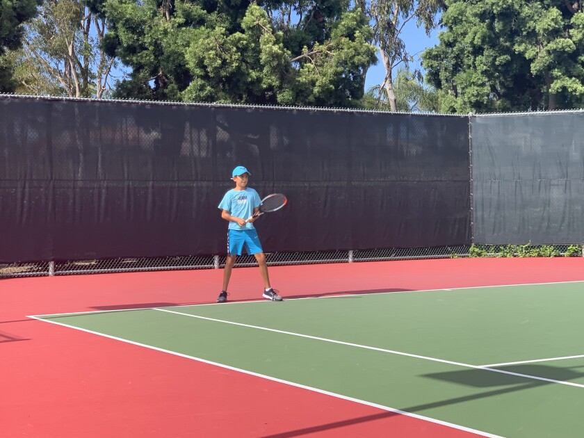 La Jollan Jake Weiss, 10, is ranked No. 8 in the U.S. Tennis Association's Southern California 10-and-under division.