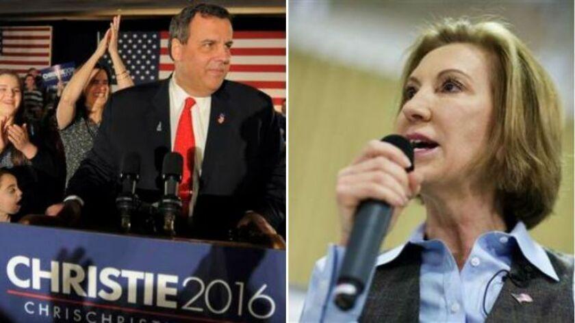 Fiorina se retira, Christie a punto de renunciar