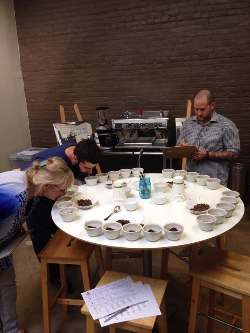 Cupping class at Cafe Virtuoso.