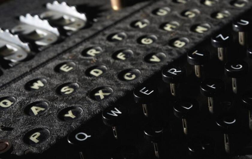La máquina Enigma,utilizada por el científico británico Alan Turing en la Segunda Guerra Mundial. EFE/Archivo