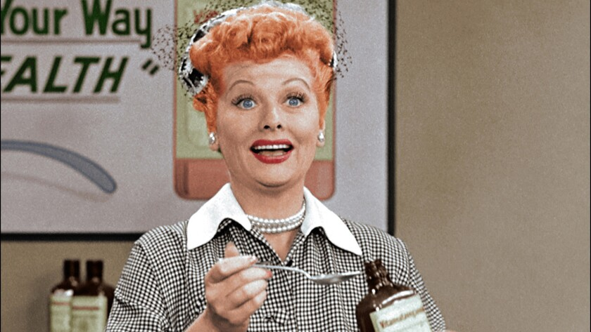 """TV legend Lucille Ball is featured in a new """"I Love Lucy Christmas Special"""" on CBS."""