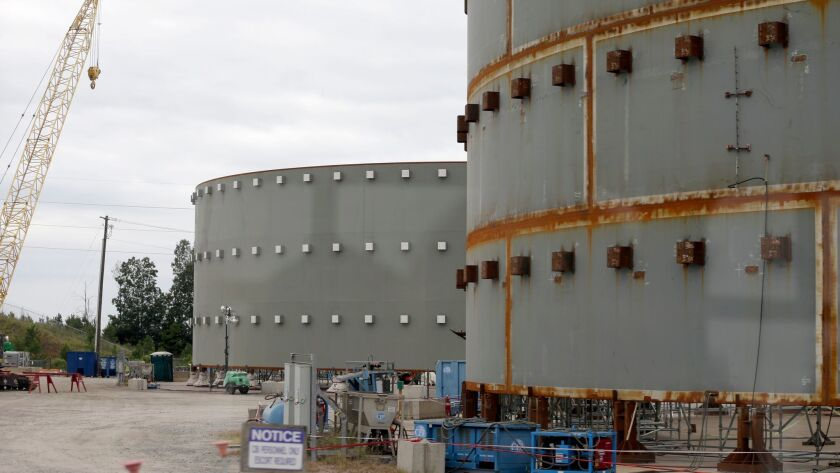 Contractors have halted construction of two reactors at the V.C. Summer Nuclear Generating Station n