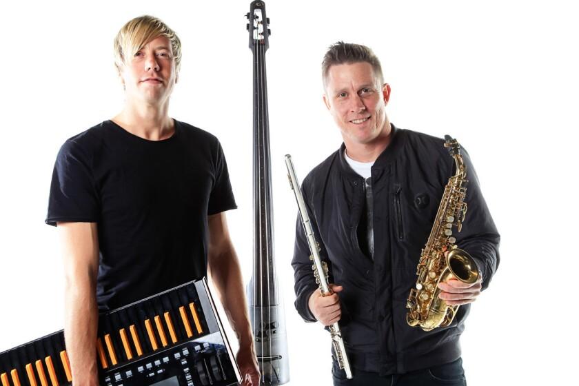Goldfish band members Dominic Peters (left) and David Poole. (Eduardo Contreras/Union-Tribune)