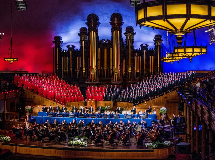 FEBRUARY 19, 2017-- SALT LAKE CITY, UTAH-- The Tabernacle Choir and Orchestra at Temple Square