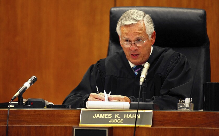 Former L.A. Mayor James K. Hahn is known as a tough judge in traffic court.