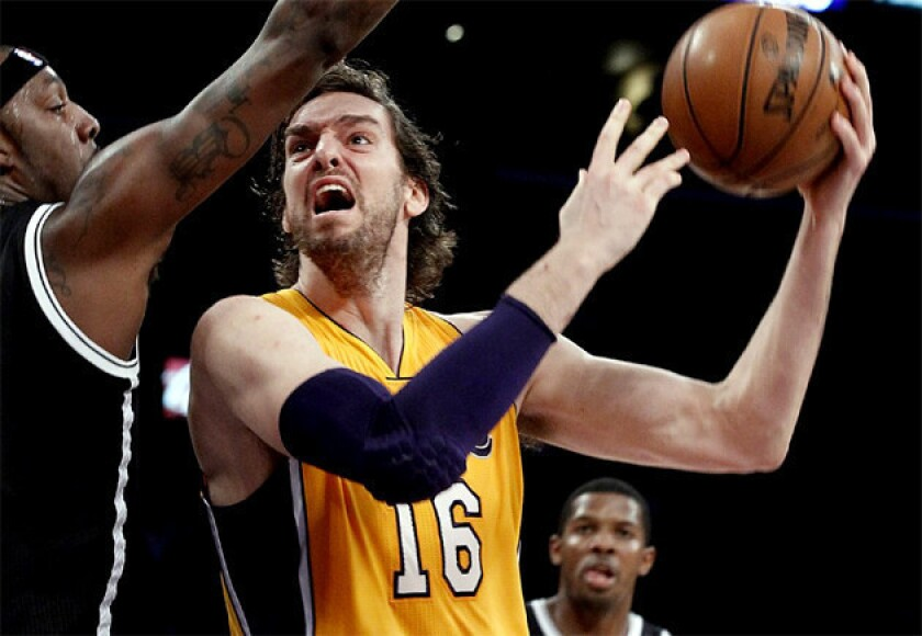 Lakers big man Pau Gasol is averaging 12.6 points and shooting only 42% this season.