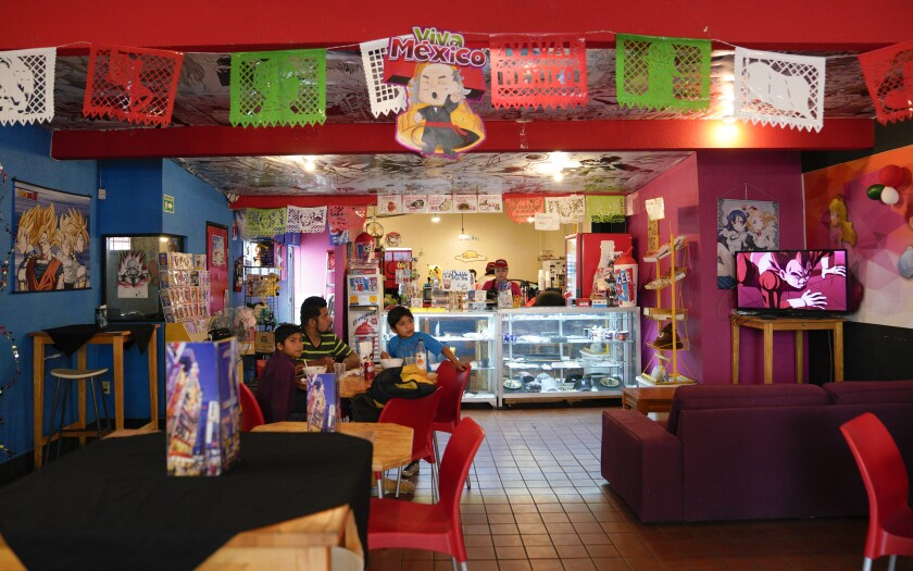 The Mundo Anime Cafe in Tijuana has been at its current location for the three years, and before that, it was on Avenida Revolución for two years.