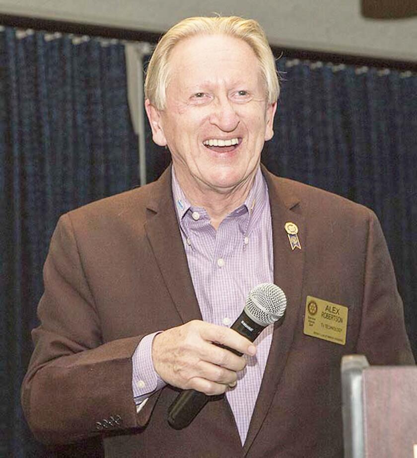 Alex W. Robertson, Rotary Club of Rancho Bernardo 2020-21 president