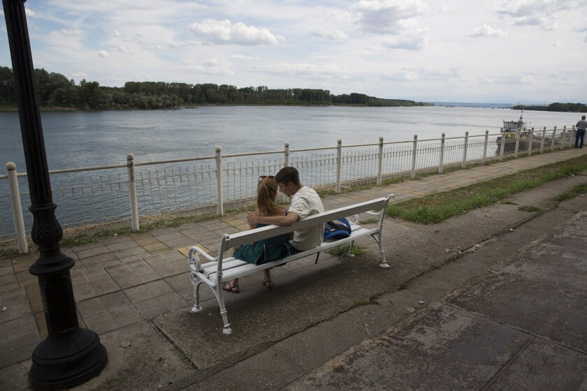 The boardwalk along the Danube in Vidin, a city in a region of Bulgaria that is experiencing rapid depopulation.