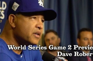 Dave Roberts on the World Series lineup