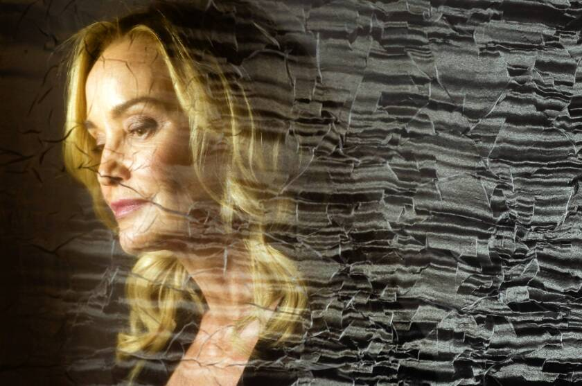"Jessica Lange, seen through a filmy veil, credits ""American Horror Story"" co-creator Ryan Murphy with luring her onto the show."
