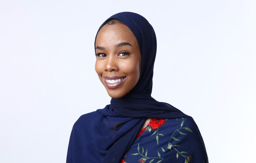 Huda Ahmed is the recipient of this year's Malala Yousafzai Youth Leadership Award, granted by the nonprofit Youth Will, a youth advocacy nonprofit organization.