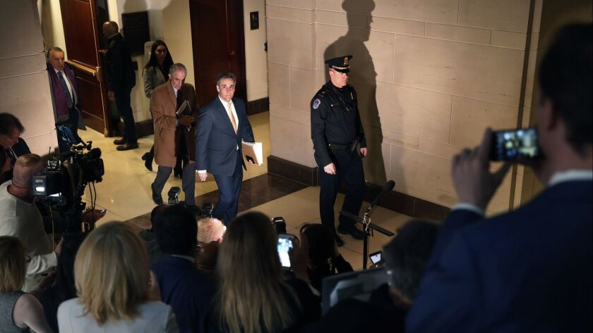 Op-Ed: If Michael Cohen can see the light, so can Trump's lackeys